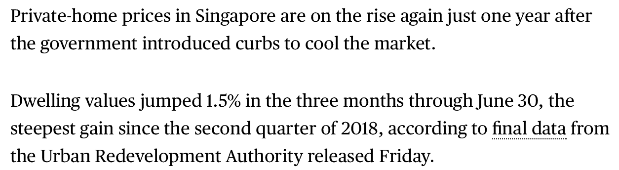 news - singapore home prices on the rise - 1