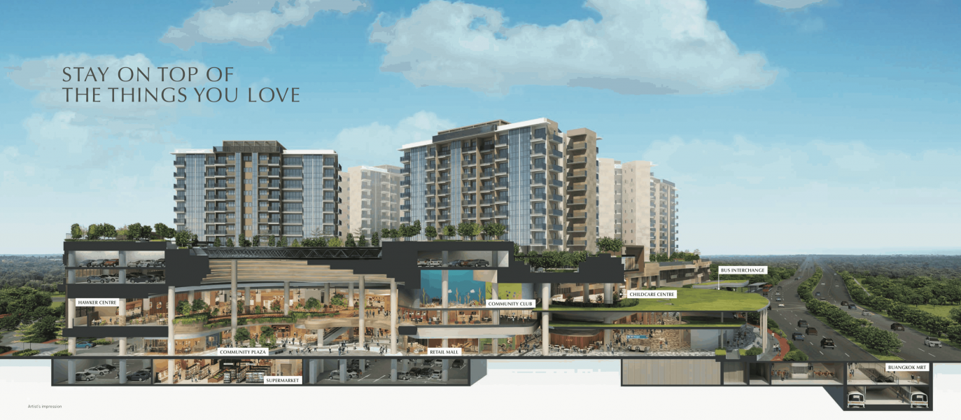 Sengkang Grand Residences Artist Impression Landscape View