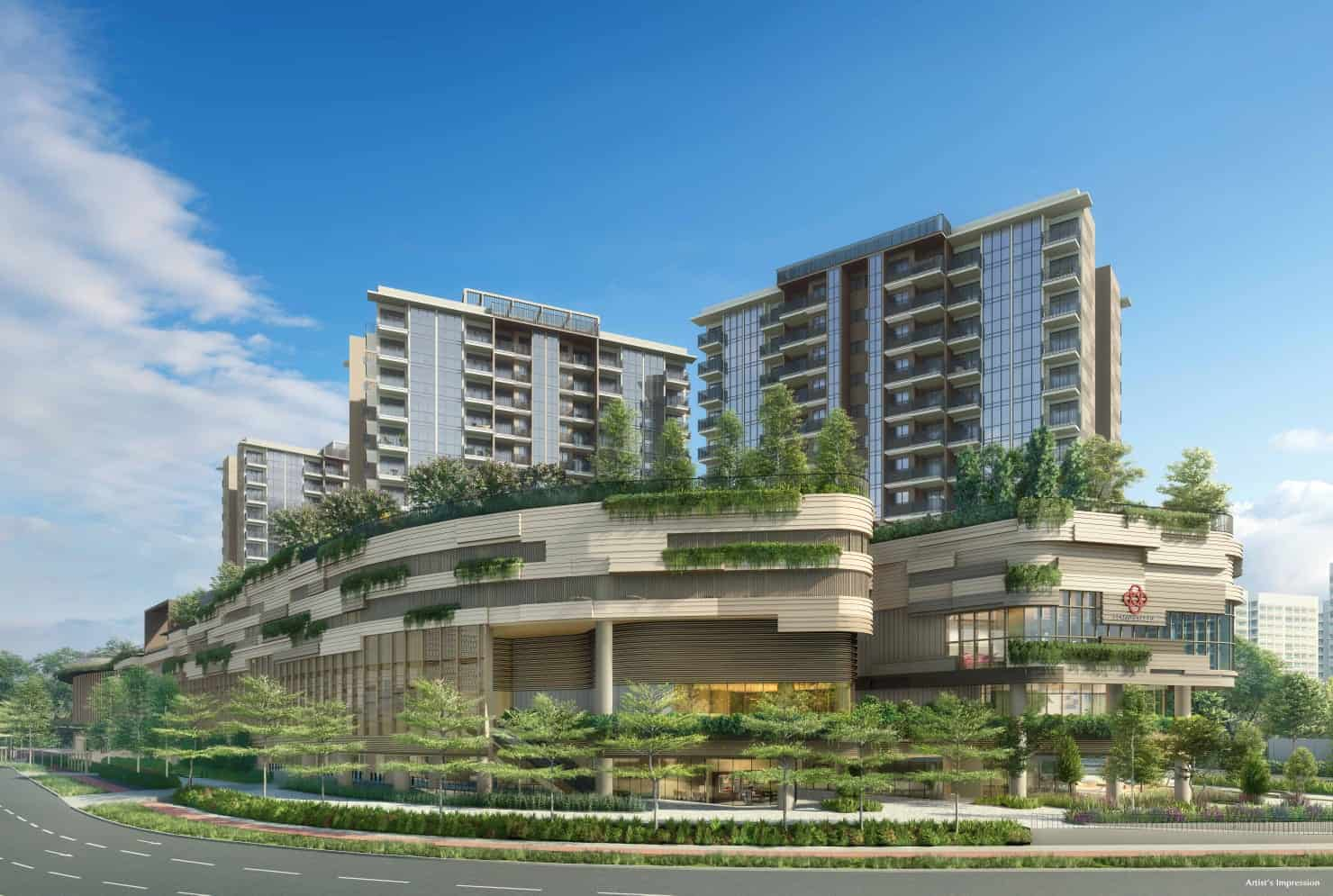 Sengkang Grand Residences Artist Impression Bottom Side View