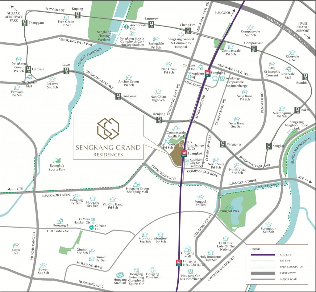 Sengkang Grand Residences Location Map